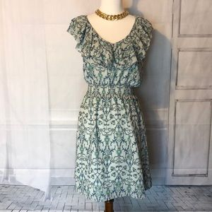 Forever 21 Contemporary blue/green pattern dress